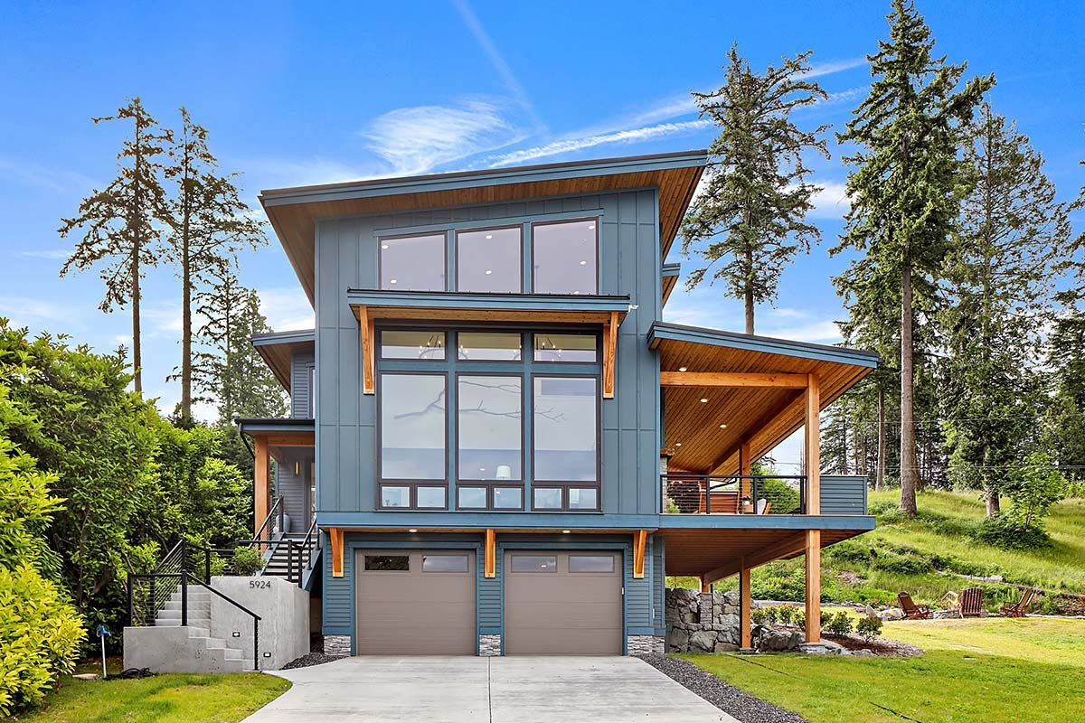 Contemporary, Modern Plan with 2287 Sq. Ft., 3 Bedrooms, 3 Bathrooms, 2 Car Garage Elevation