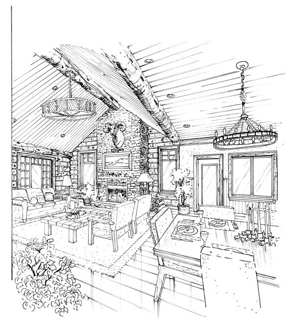 Cabin, Cape Cod, Country Plan with 2049 Sq. Ft., 3 Bedrooms, 3 Bathrooms Picture 2