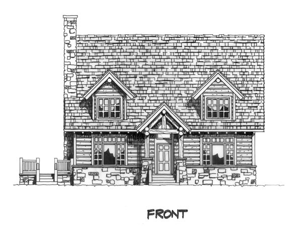 Cabin, Cape Cod, Country Plan with 2049 Sq. Ft., 3 Bedrooms, 3 Bathrooms Picture 3