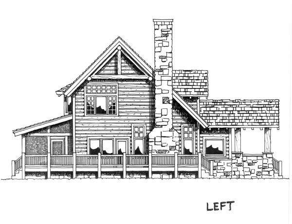 Cabin, Cape Cod, Country Plan with 2049 Sq. Ft., 3 Bedrooms, 3 Bathrooms Picture 4