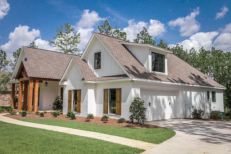 Country, Craftsman, Farmhouse Plan with 2373 Sq. Ft., 4 Bedrooms, 3 Bathrooms, 2 Car Garage Picture 16