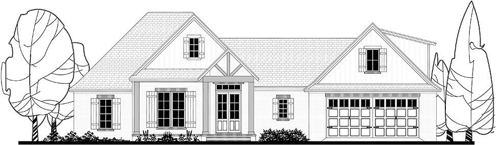 Country, Craftsman, Farmhouse Plan with 2373 Sq. Ft., 4 Bedrooms, 3 Bathrooms, 2 Car Garage Picture 30