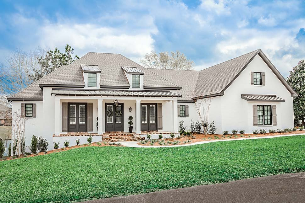 Acadian, French Country, Southern Plan with 2854 Sq. Ft., 3 Bedrooms, 2 Bathrooms, 3 Car Garage Picture 2