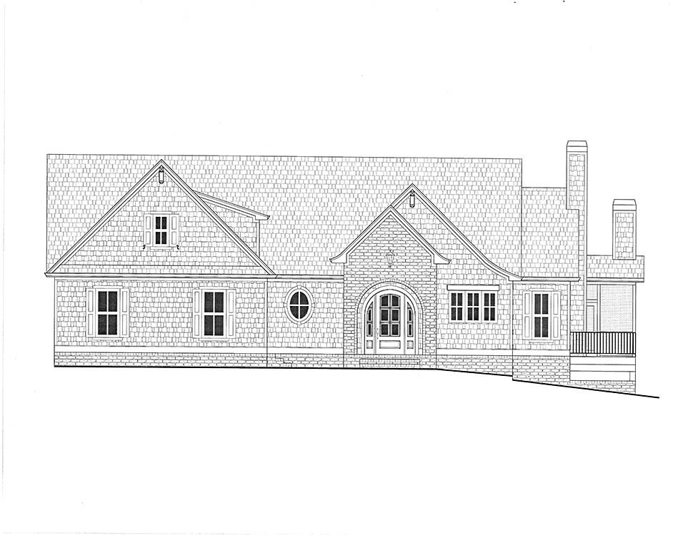 Coastal, Farmhouse, Southern Plan with 3794 Sq. Ft., 4 Bedrooms, 5 Bathrooms, 3 Car Garage Picture 2