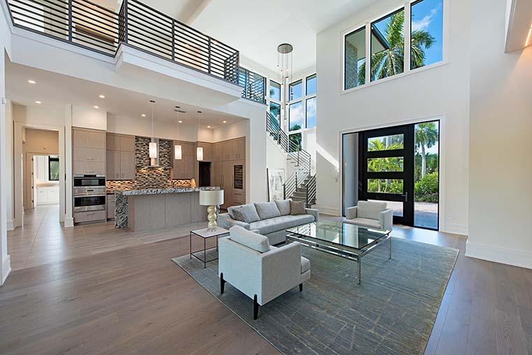 Coastal, Contemporary, Florida, Mediterranean Plan with 4350 Sq. Ft., 4 Bedrooms, 5 Bathrooms, 3 Car Garage Picture 11