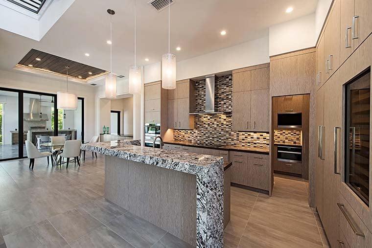 Coastal, Contemporary, Florida, Mediterranean Plan with 4350 Sq. Ft., 4 Bedrooms, 5 Bathrooms, 3 Car Garage Picture 13