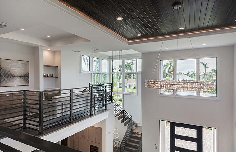 Coastal, Contemporary, Florida, Mediterranean Plan with 4350 Sq. Ft., 4 Bedrooms, 5 Bathrooms, 3 Car Garage Picture 22