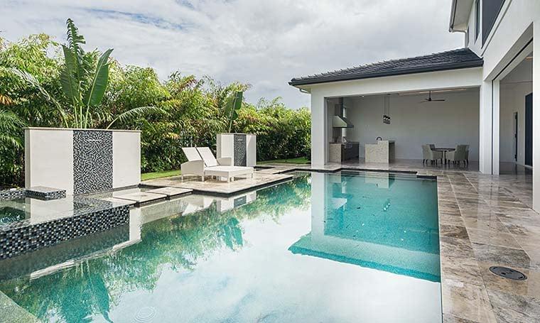 Coastal, Contemporary, Florida, Mediterranean Plan with 4350 Sq. Ft., 4 Bedrooms, 5 Bathrooms, 3 Car Garage Picture 7