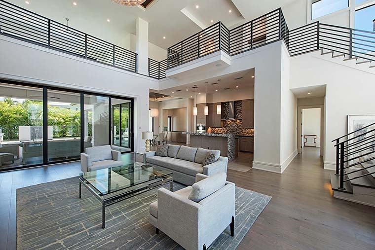 Coastal, Contemporary, Florida, Mediterranean Plan with 4350 Sq. Ft., 4 Bedrooms, 5 Bathrooms, 3 Car Garage Picture 10