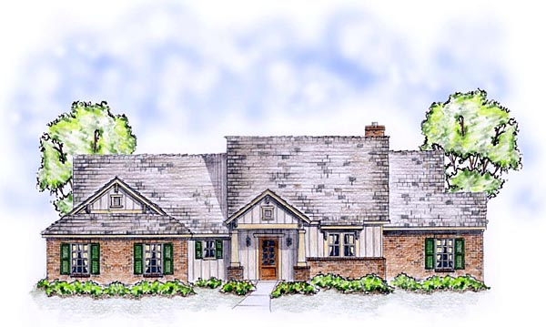 Bungalow, Craftsman, Ranch, Traditional Plan with 1850 Sq. Ft., 3 Bedrooms, 2 Bathrooms, 2 Car Garage Picture 2