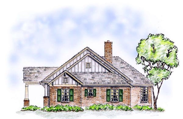 Bungalow, Craftsman, Ranch, Traditional Plan with 1850 Sq. Ft., 3 Bedrooms, 2 Bathrooms, 2 Car Garage Picture 3