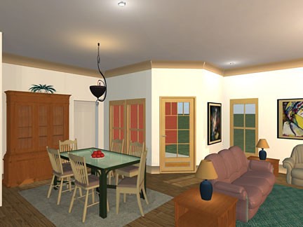 Bungalow, Craftsman, Ranch, Traditional Plan with 1850 Sq. Ft., 3 Bedrooms, 2 Bathrooms, 2 Car Garage Picture 4