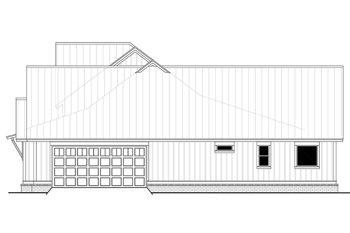 Country, Craftsman, Farmhouse Plan with 2553 Sq. Ft., 3 Bedrooms, 3 Bathrooms, 2 Car Garage Picture 2