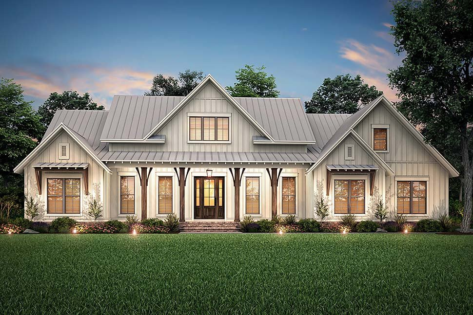 Country, Craftsman, Farmhouse Plan with 2553 Sq. Ft., 3 Bedrooms, 3 Bathrooms, 2 Car Garage Picture 5