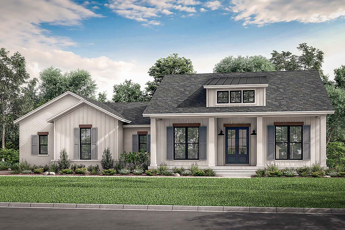 Country, Craftsman, Farmhouse, Traditional Plan with 2044 Sq. Ft., 3 Bedrooms, 3 Bathrooms, 2 Car Garage Elevation