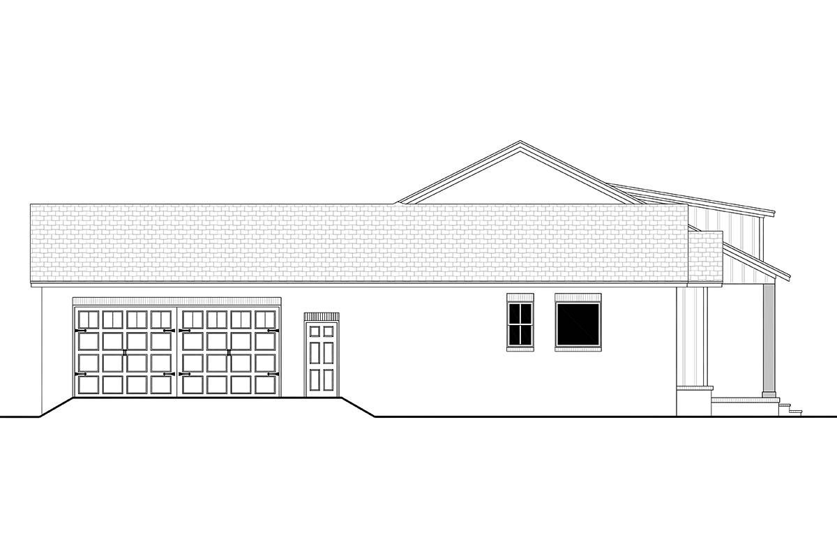 Country, Craftsman, Farmhouse, Traditional Plan with 2044 Sq. Ft., 3 Bedrooms, 3 Bathrooms, 2 Car Garage Picture 3