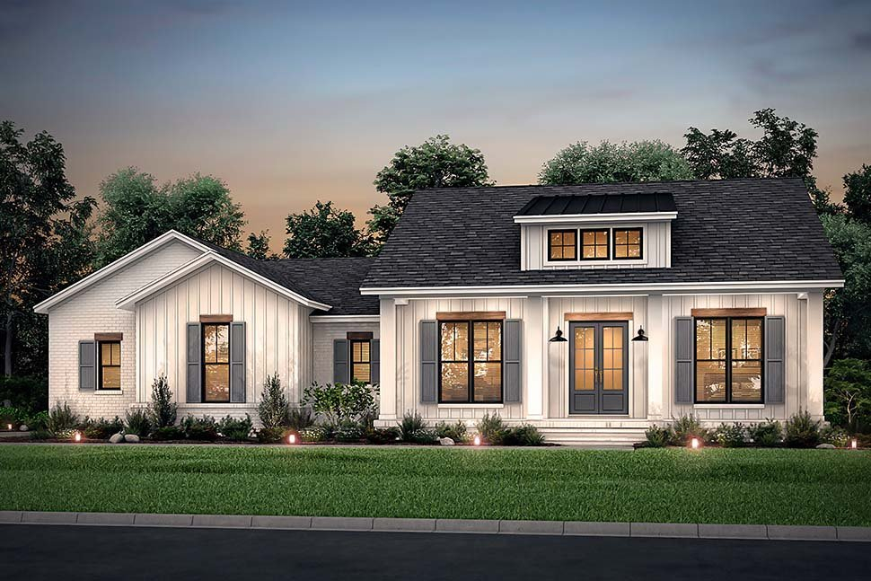 Country, Craftsman, Farmhouse, Traditional Plan with 2044 Sq. Ft., 3 Bedrooms, 3 Bathrooms, 2 Car Garage Picture 5