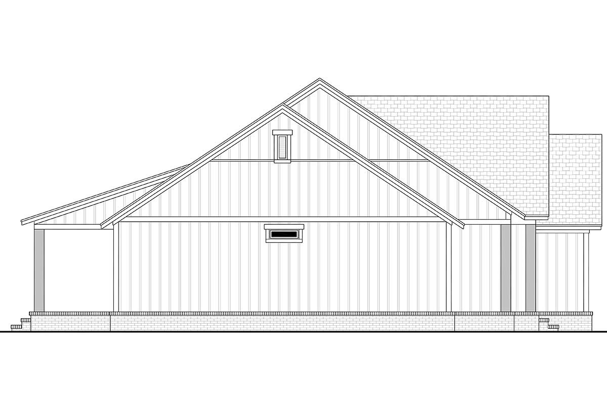 Country, Farmhouse, Southern, Traditional Plan with 1521 Sq. Ft., 3 Bedrooms, 2 Bathrooms, 2 Car Garage Picture 3