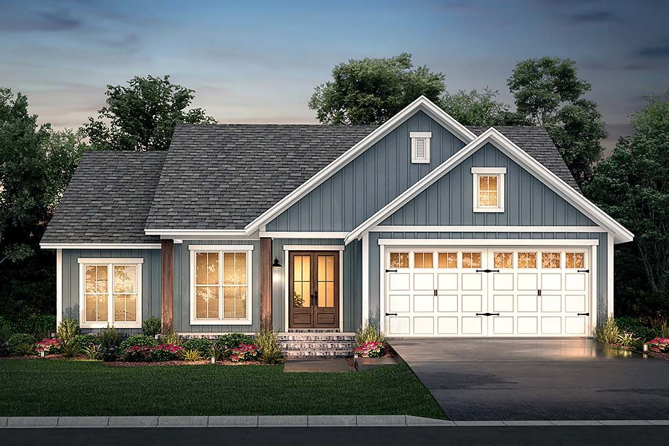 Country, Farmhouse, Southern, Traditional Plan with 1521 Sq. Ft., 3 Bedrooms, 2 Bathrooms, 2 Car Garage Picture 5