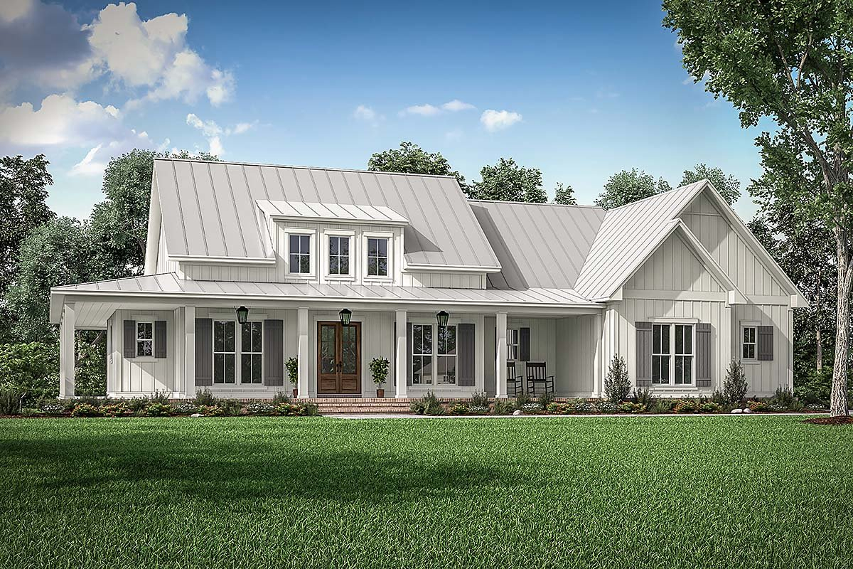 Country, Craftsman, Farmhouse Plan with 2395 Sq. Ft., 3 Bedrooms, 3 Bathrooms, 2 Car Garage Elevation