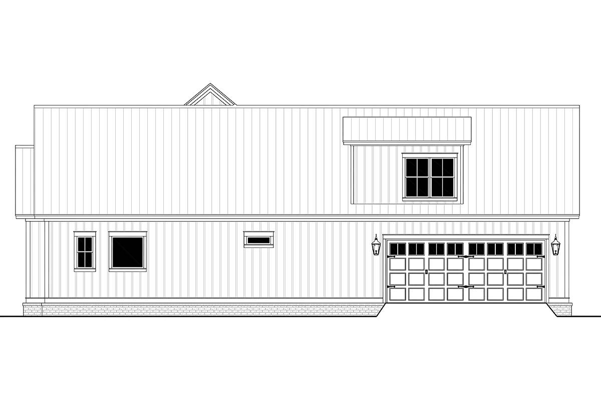 Country, Craftsman, Farmhouse Plan with 2395 Sq. Ft., 3 Bedrooms, 3 Bathrooms, 2 Car Garage Picture 2