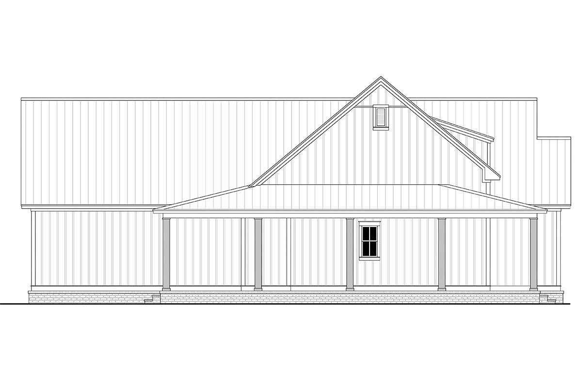 Country, Craftsman, Farmhouse Plan with 2395 Sq. Ft., 3 Bedrooms, 3 Bathrooms, 2 Car Garage Picture 3