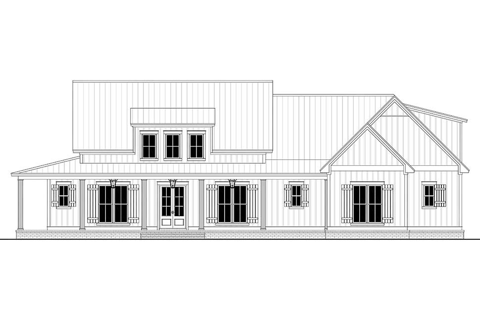 Country, Craftsman, Farmhouse Plan with 2395 Sq. Ft., 3 Bedrooms, 3 Bathrooms, 2 Car Garage Picture 4