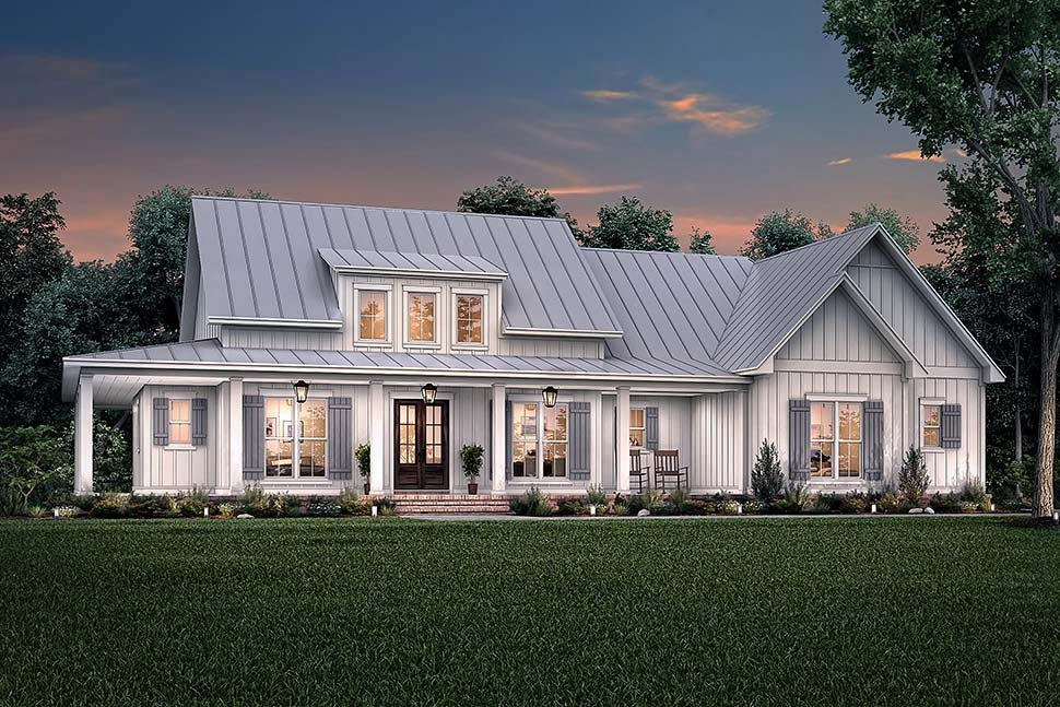 Country, Craftsman, Farmhouse Plan with 2395 Sq. Ft., 3 Bedrooms, 3 Bathrooms, 2 Car Garage Picture 5