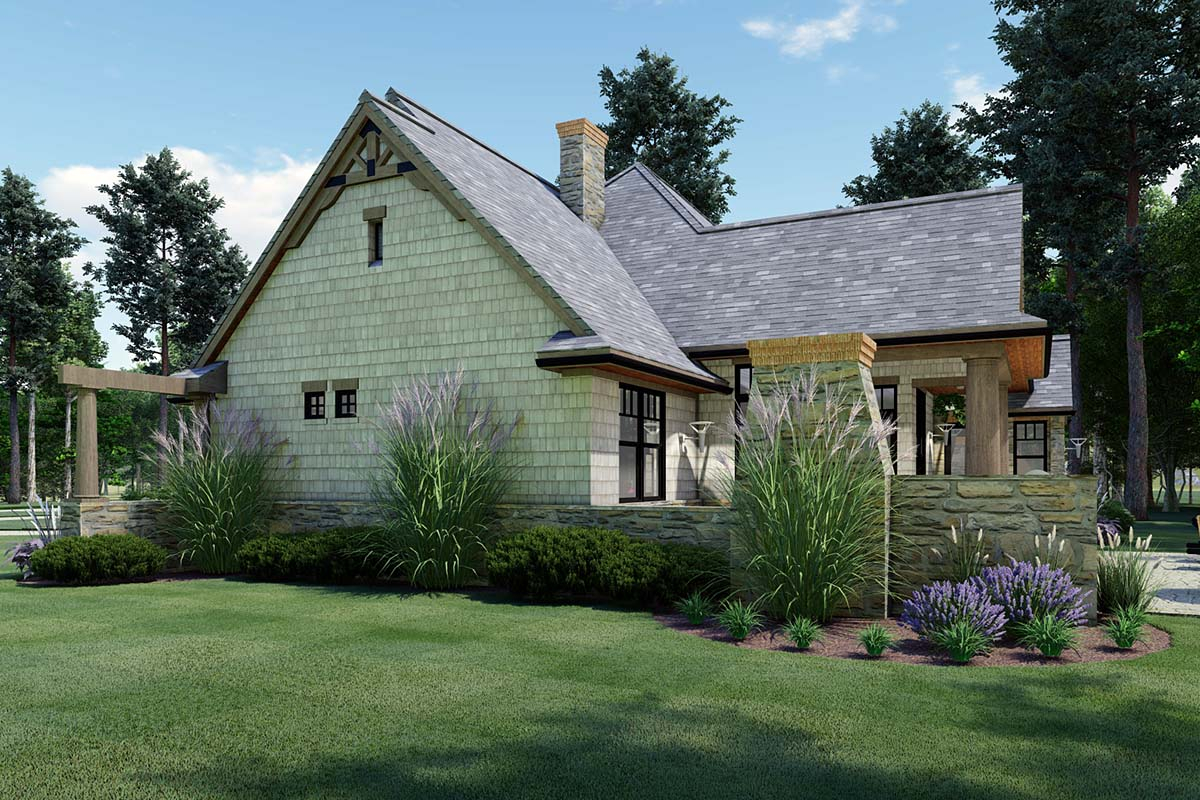 Cottage, Craftsman, Tuscan Plan with 1848 Sq. Ft., 3 Bedrooms, 2 Bathrooms, 2 Car Garage Picture 2