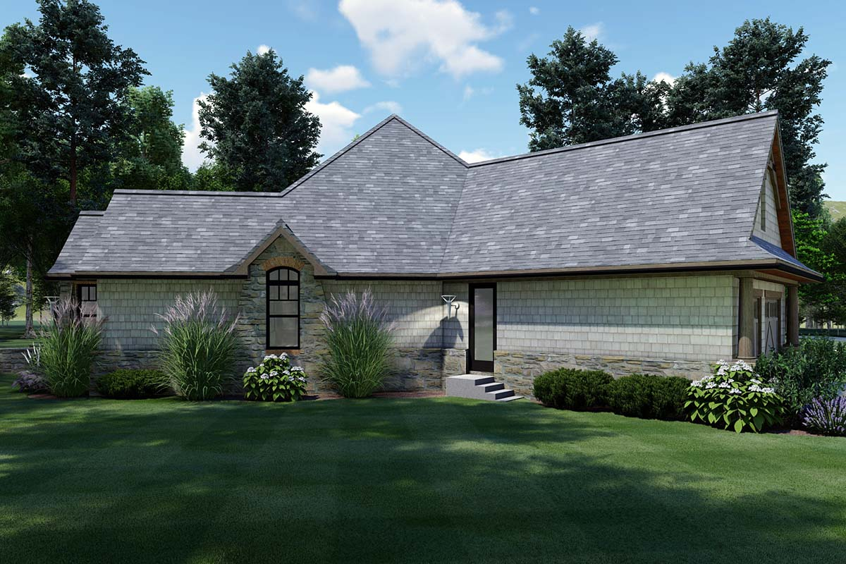 Cottage, Craftsman, Tuscan Plan with 1848 Sq. Ft., 3 Bedrooms, 2 Bathrooms, 2 Car Garage Picture 3