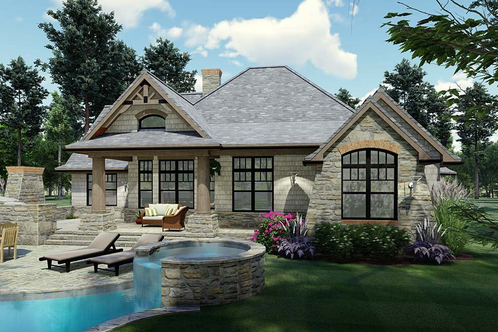 Cottage, Craftsman, Tuscan Plan with 1848 Sq. Ft., 3 Bedrooms, 2 Bathrooms, 2 Car Garage Picture 7