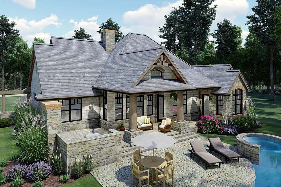 Cottage, Craftsman, Tuscan Plan with 1848 Sq. Ft., 3 Bedrooms, 2 Bathrooms, 2 Car Garage Picture 8