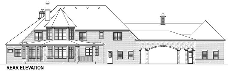 European, French Country Plan with 3302 Sq. Ft., 5 Bedrooms, 5 Bathrooms, 5 Car Garage Picture 6