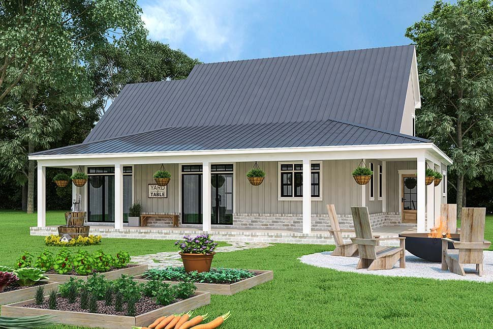 Country, Farmhouse, Southern Plan with 1999 Sq. Ft., 3 Bedrooms, 4 Bathrooms, 2 Car Garage Picture 3