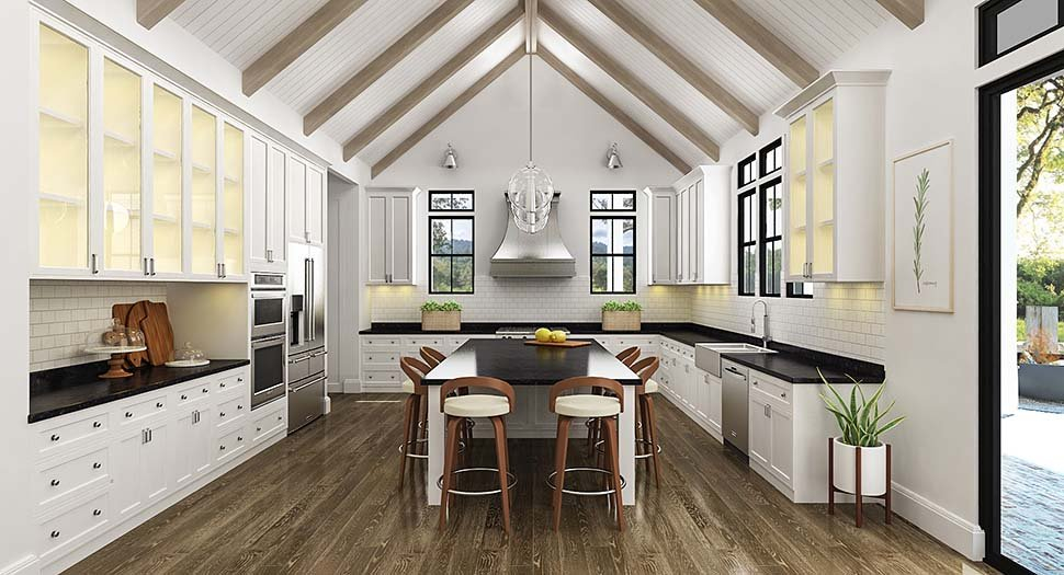Country, Farmhouse, Southern Plan with 1999 Sq. Ft., 3 Bedrooms, 4 Bathrooms, 2 Car Garage Picture 4