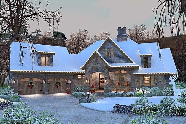 Cottage, Craftsman, Tuscan Plan with 2482 Sq. Ft., 4 Bedrooms, 4 Bathrooms, 2 Car Garage Picture 58