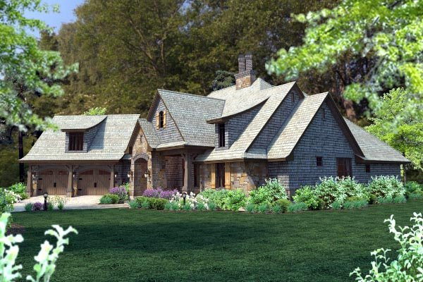 Cottage, Craftsman, Tuscan Plan with 2482 Sq. Ft., 4 Bedrooms, 4 Bathrooms, 2 Car Garage Picture 60