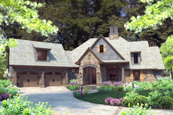 Cottage, Craftsman, Tuscan Plan with 2482 Sq. Ft., 4 Bedrooms, 4 Bathrooms, 2 Car Garage Picture 62