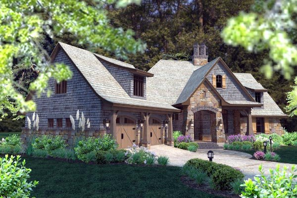 Cottage, Craftsman, Tuscan Plan with 2482 Sq. Ft., 4 Bedrooms, 4 Bathrooms, 2 Car Garage Picture 66