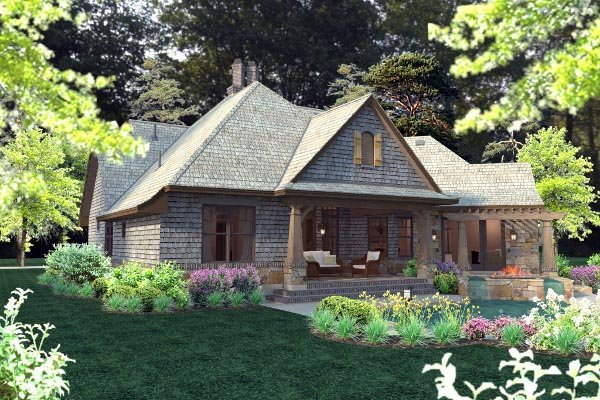 Cottage, Craftsman, Tuscan Plan with 2482 Sq. Ft., 4 Bedrooms, 4 Bathrooms, 2 Car Garage Picture 68