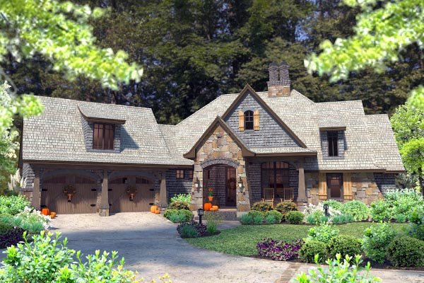 Cottage, Craftsman, Tuscan Plan with 2482 Sq. Ft., 4 Bedrooms, 4 Bathrooms, 2 Car Garage Picture 70