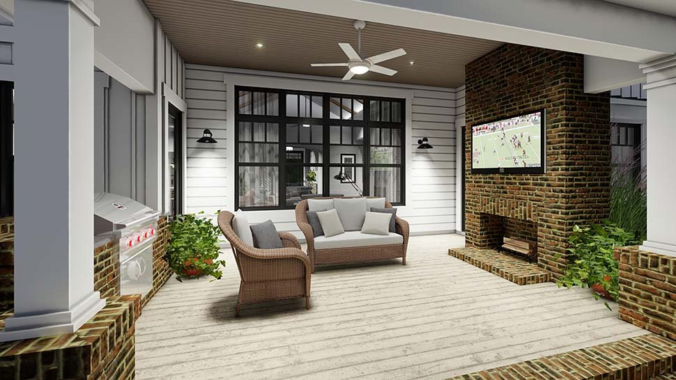 Country, Farmhouse Plan with 2829 Sq. Ft., 4 Bedrooms, 4 Bathrooms, 3 Car Garage Picture 12