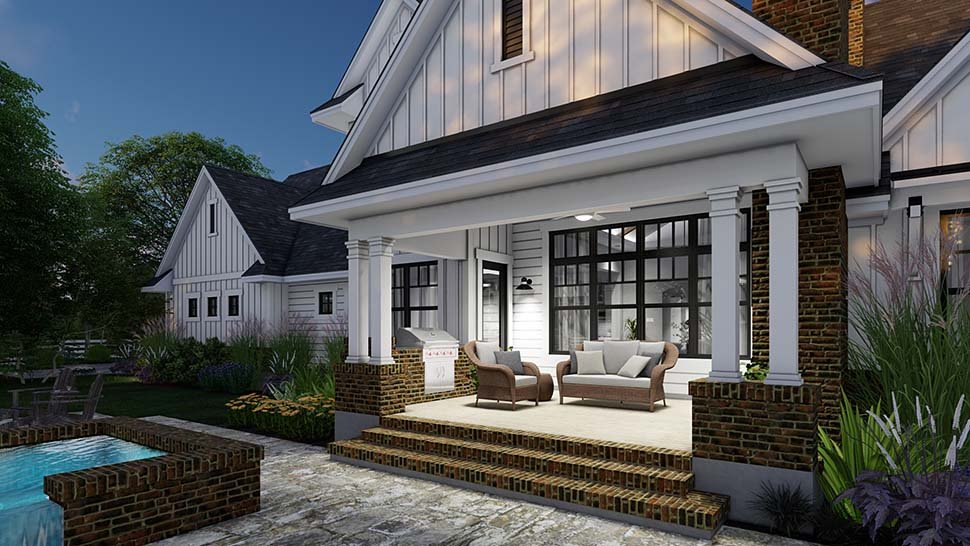 Country, Farmhouse Plan with 2829 Sq. Ft., 4 Bedrooms, 4 Bathrooms, 3 Car Garage Picture 13