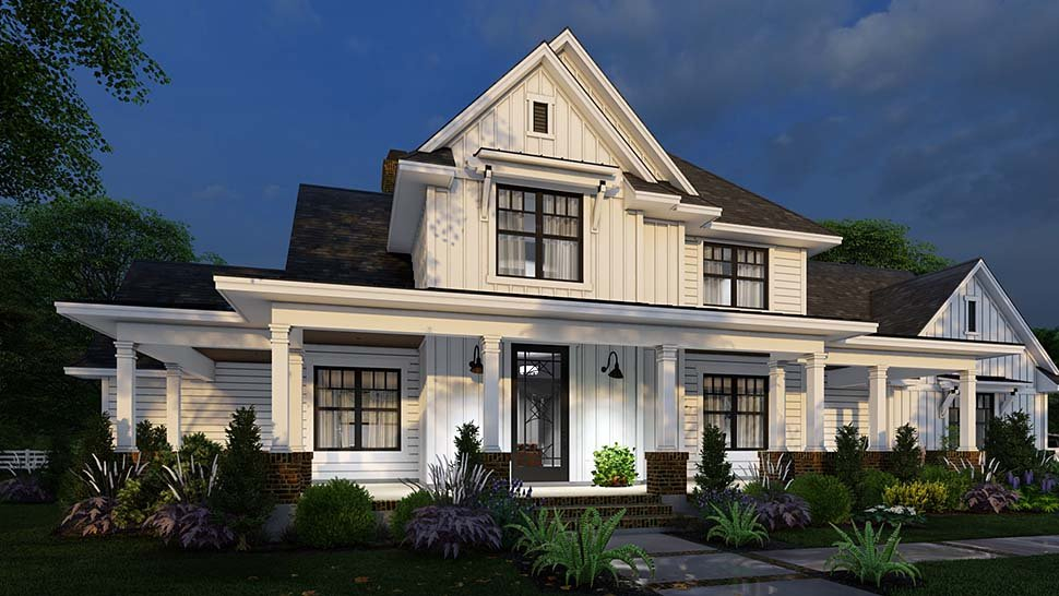 Country, Farmhouse Plan with 2829 Sq. Ft., 4 Bedrooms, 4 Bathrooms, 3 Car Garage Picture 14