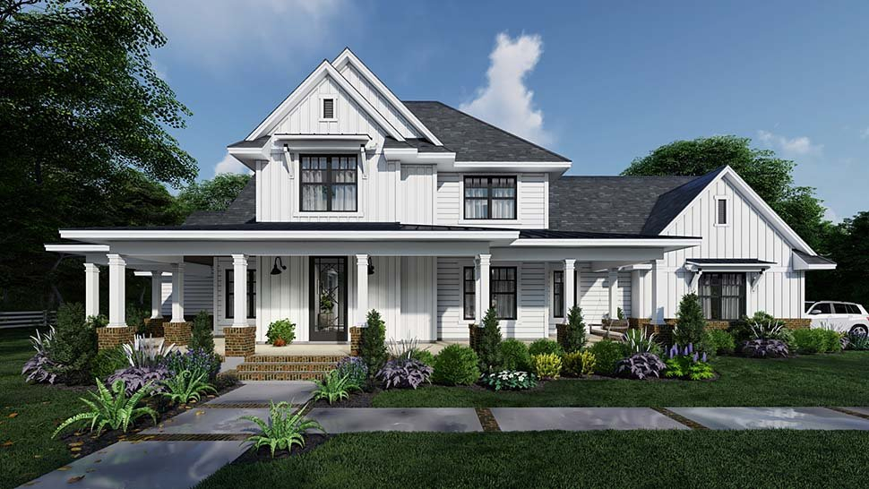 Country, Farmhouse Plan with 2829 Sq. Ft., 4 Bedrooms, 4 Bathrooms, 3 Car Garage Picture 15