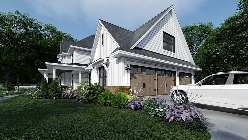 Country, Farmhouse Plan with 2829 Sq. Ft., 4 Bedrooms, 4 Bathrooms, 3 Car Garage Picture 4