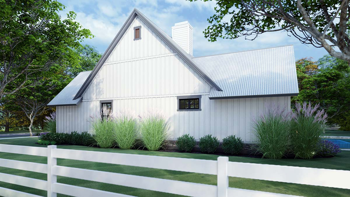 Cottage, Farmhouse, Southern, Traditional Plan with 1988 Sq. Ft., 3 Bedrooms, 3 Bathrooms, 2 Car Garage Picture 2