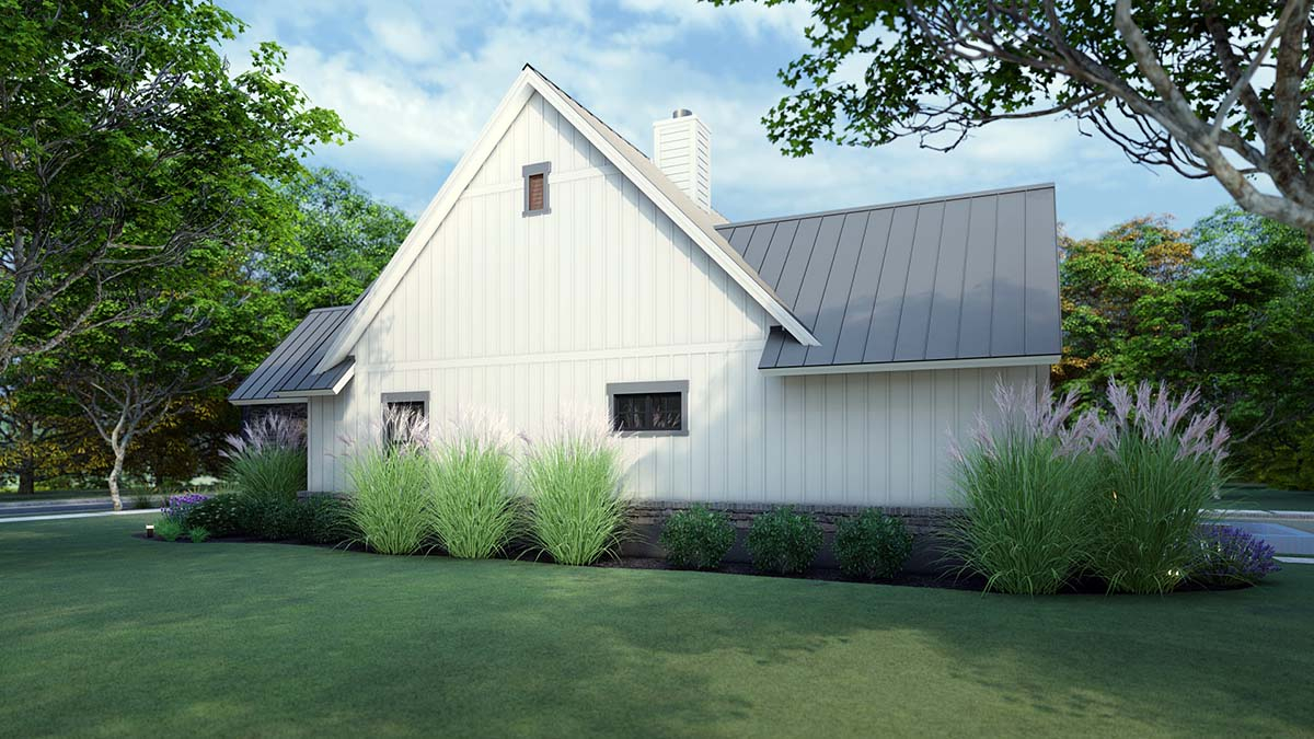 Cottage, Country, Farmhouse, Southern Plan with 1742 Sq. Ft., 3 Bedrooms, 3 Bathrooms, 2 Car Garage Picture 2