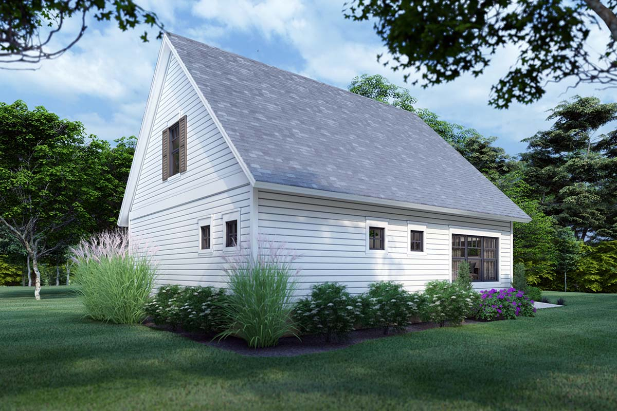 Cottage, Farmhouse Plan with 1302 Sq. Ft., 3 Bedrooms, 2 Bathrooms Picture 2