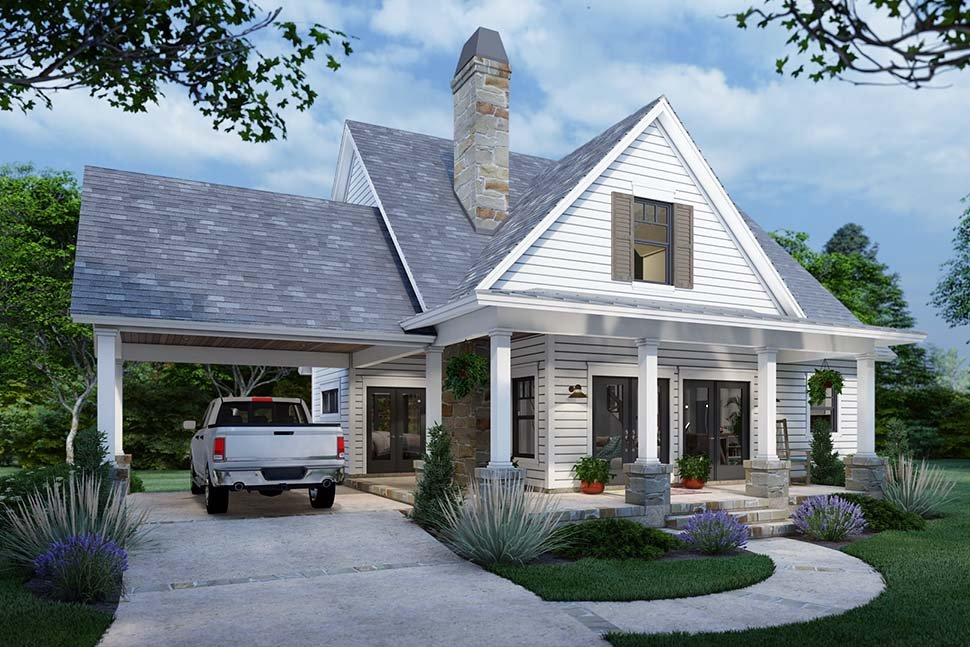 Cottage, Farmhouse Plan with 1302 Sq. Ft., 3 Bedrooms, 2 Bathrooms Picture 3